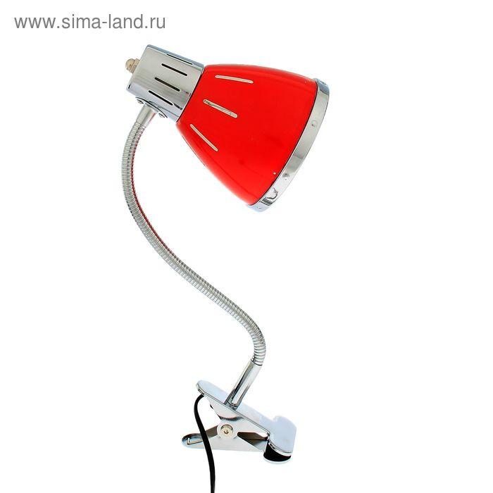 Лампа настольная E27 на зажиме, МИКС 16х13х50 см