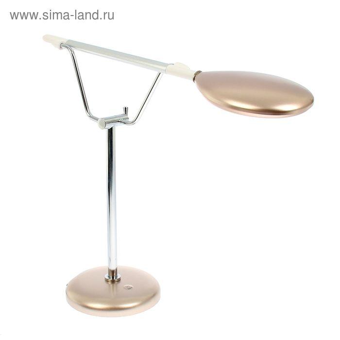 """Лампа наст. сенсор LED-лампа (60 диодов)""""Карин""""золото,фиксатор положения,переходник в компл."""
