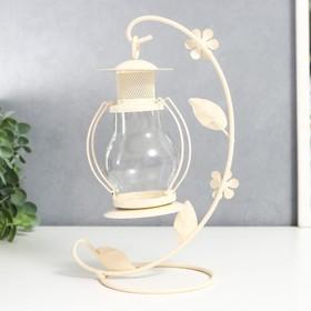 "Подсвечник 1 свеча ""Лампада"", белый"