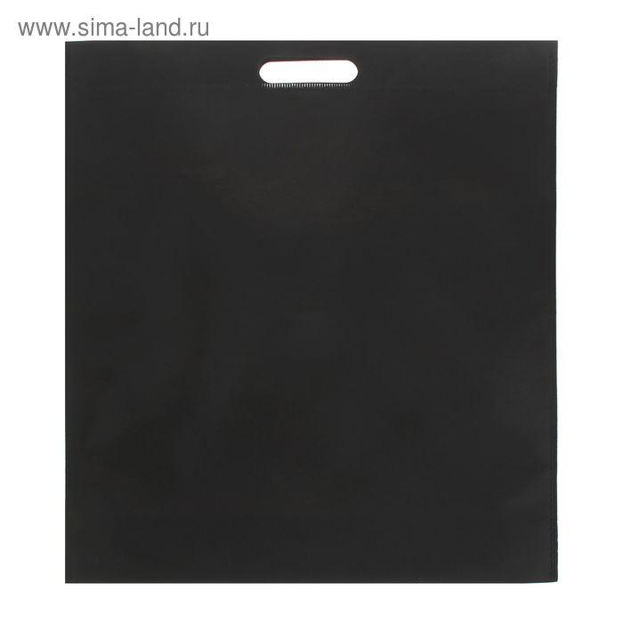 Пакет с вырубной ручкой, чёрный