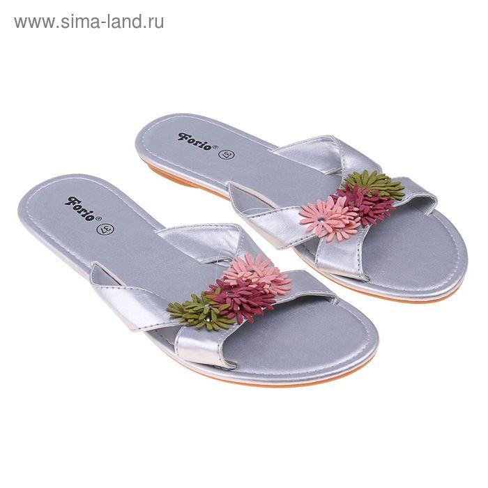 Туфли летние открытые женские Forio арт.335-3508 (серый) (р. 37)