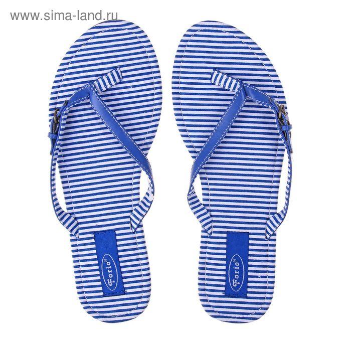 Туфли летние открытые женские Forio арт. 325-1015 (синий) (р. 37)