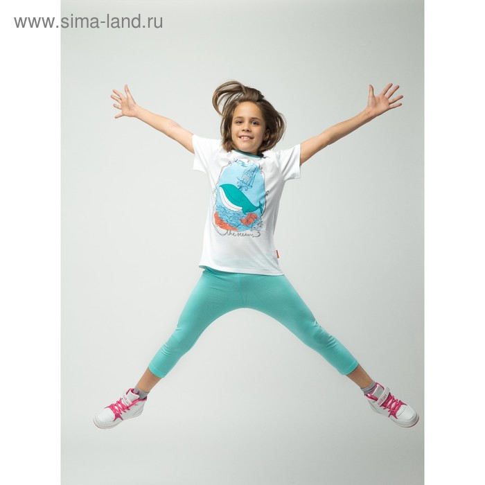 Бриджи для девочки, рост 116 см (60), цвет св.бирюза_160085