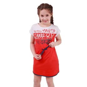 Платье для девочки, рост 158 см (80), цвет красный_160086