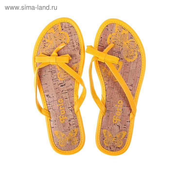 Туфли летние открытые женские Forio арт. 325-1013 (желтый) (р. 37)