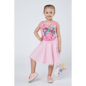 Майка для девочки, рост 98 см (56), цвет розовый_160082