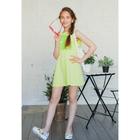 Платье для девочки, рост 128 см (64), цвет лайм_160087