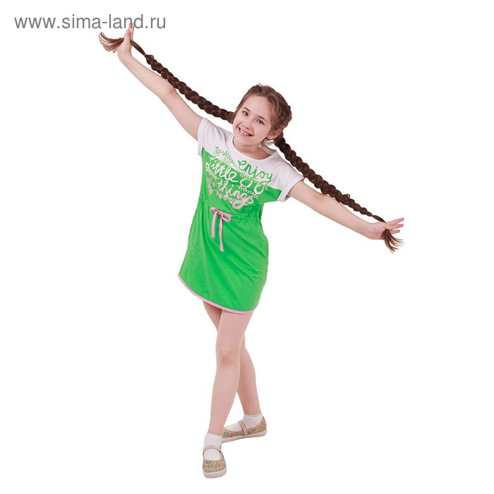 Платье для девочки, рост 164 см (84), цвет зеленый_160086