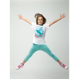 Бриджи для девочки, рост 128 см (64), цвет св.бирюза_160085