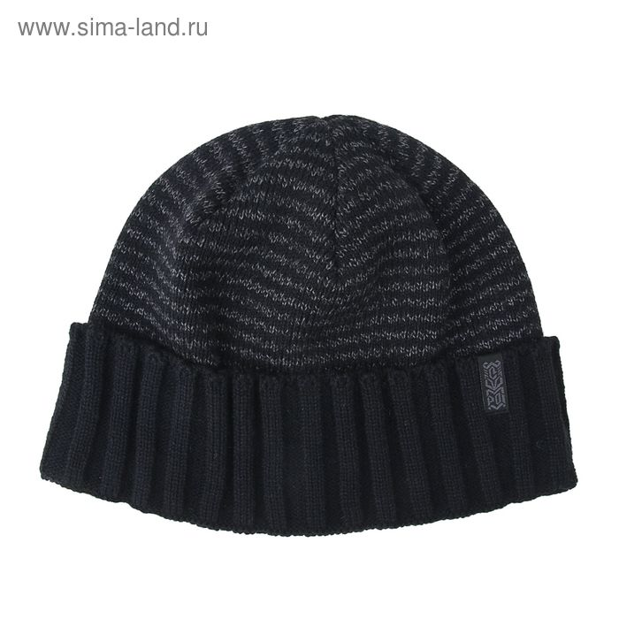 """Шапка мужская """"ФРЕНД"""" демисезонная, размер 58, цвет черный, тем-серый 140760"""