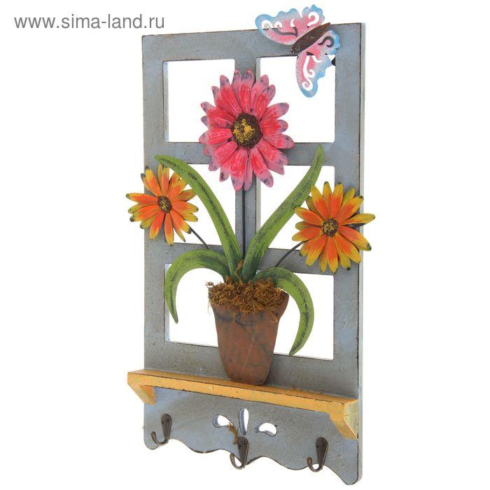 """Декор дачный """"Цветы на окне"""" микс"""