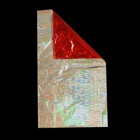 Пакет подарочный голографический красный, 40х23 см, 30 мкм