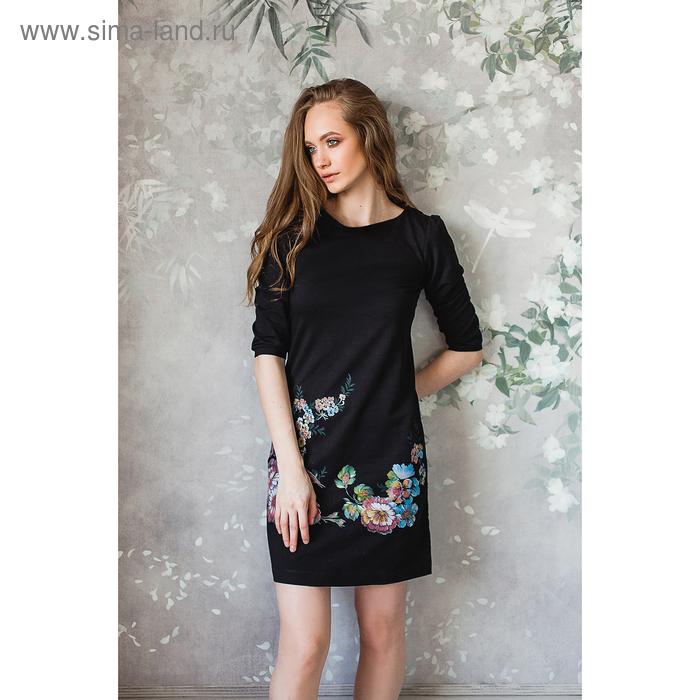 Платье женское М-231/1-05 черный, р-р 44