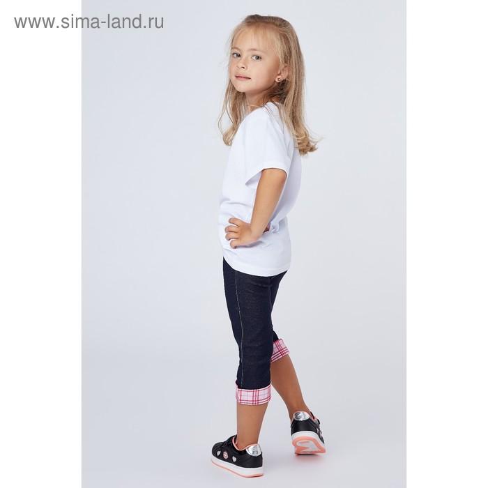 Бриджи для девочки, рост 134 см (9 лет), цвет джинс Л470_Д