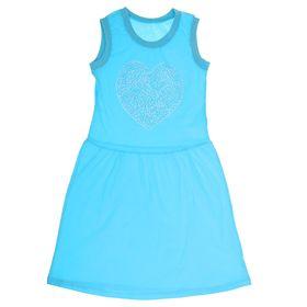 Платье с коротким рукавом для девочки, рост 134 см (9 лет), цвет МИКС Л468_Д