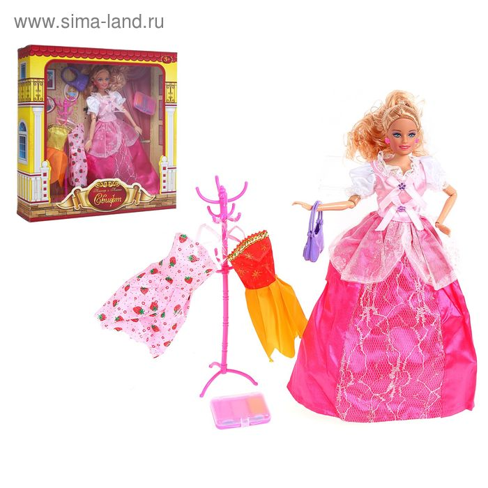 """Кукла шарнирная, """"Джейн"""", с аксессуарами, МИКС + БОНУС - куколка картонная, вырезная одежда"""