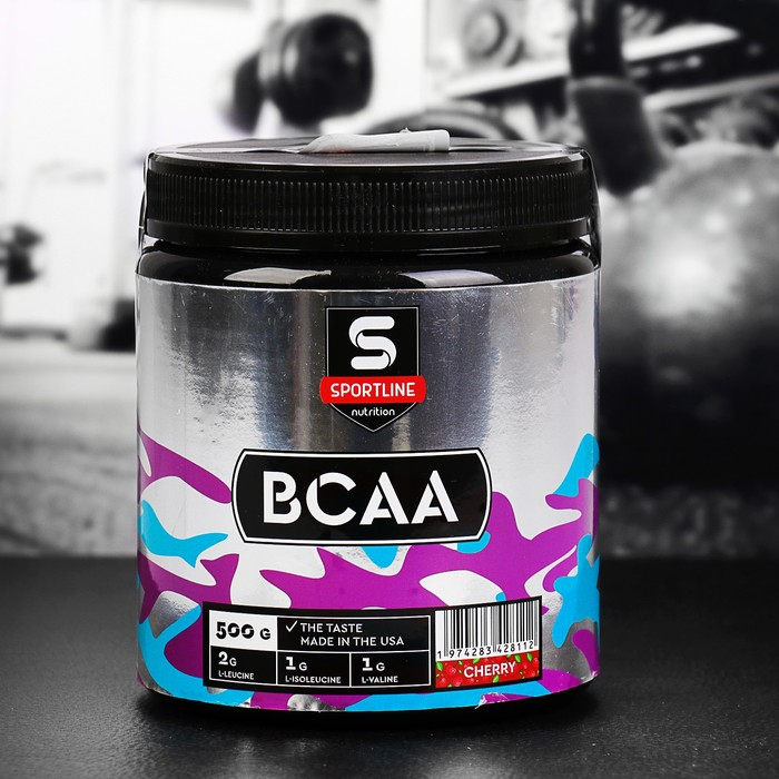 Аминокислоты SportLine BCAA 500g (Вишня)