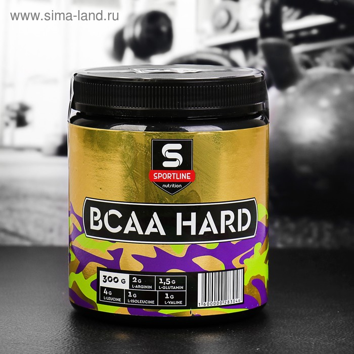 Аминокислоты SportLine BCAA HARD 4:1:1 300g (Натуральный)