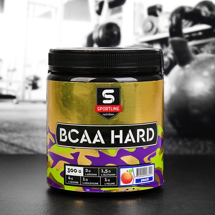 Аминокислоты SportLine BCAA Hard 4:1:1, персик, 300 г