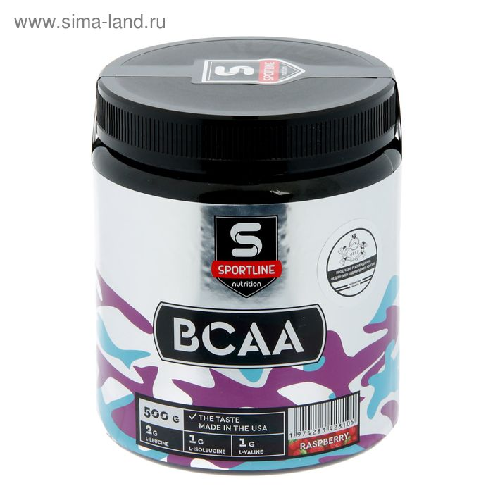 Аминокислоты SportLine BCAA 500g (Малина)