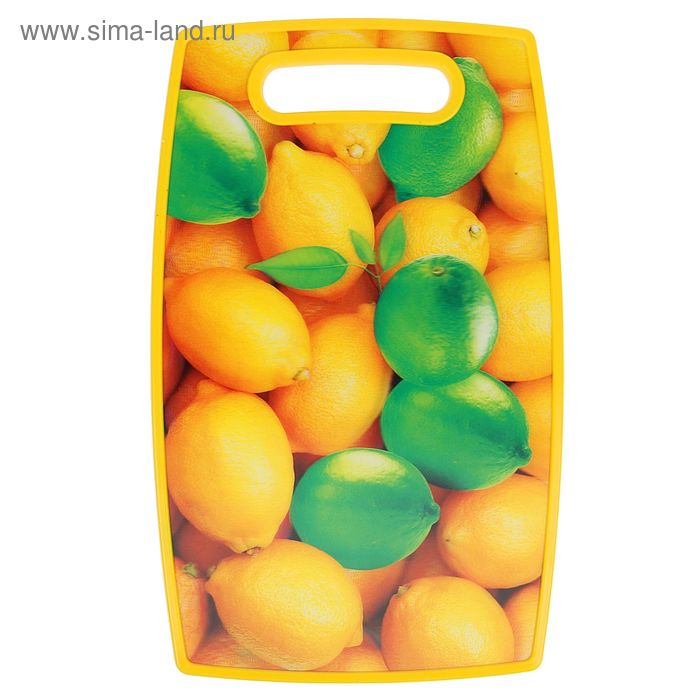 """Доска разделочная 37х23 см """"3D Лимоны"""""""