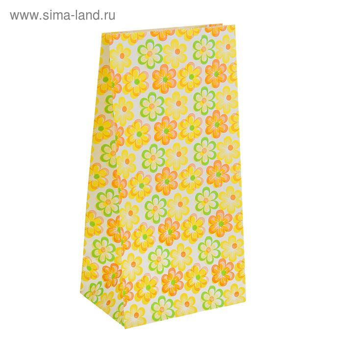 """Пакет фасовочный """"Ромашки"""", цвет жёлтый, 9 х 5 х 18 см"""