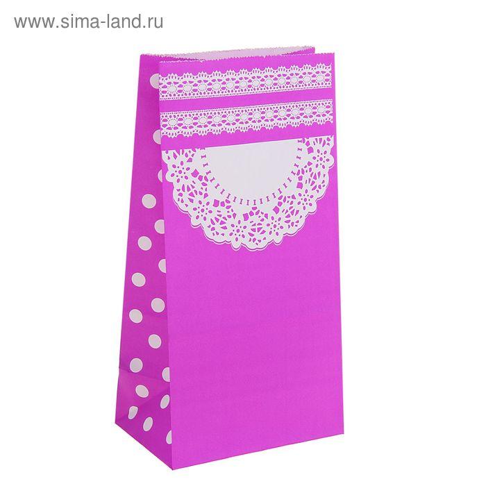 """Пакет фасовочный """"Ажур"""", цвет фиолетовый"""