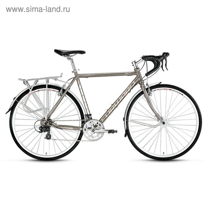 """Велосипед 28"""" Forward York 1.0, 2016, цвет серый, размер 560 мм"""