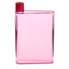 Фляжка пластиковая Flat, 420 мл, розовая