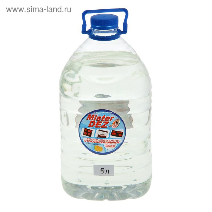 Средство для ухода, защиты и чистки стеклокерамики Mister Dez с запахом лимона, 5 л
