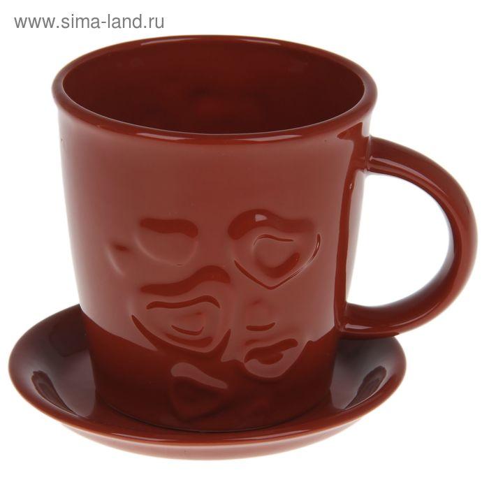 "Чашка с блюдцем 250 мл ""Шоколад"""