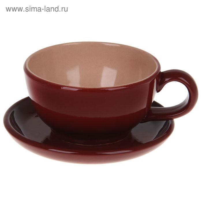 "Чашка с блюдцем 200 мл ""Шоколад"""