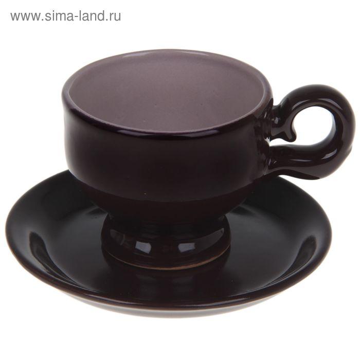 """Чашка с блюдцем """"Изящная"""""""