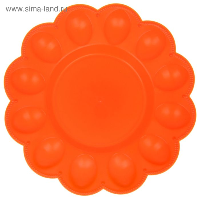 Тарелка для яиц, цвет мандарин
