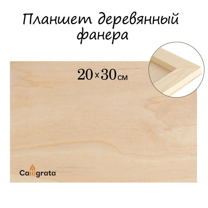 Планшет деревянный фанера 20*30*2 см