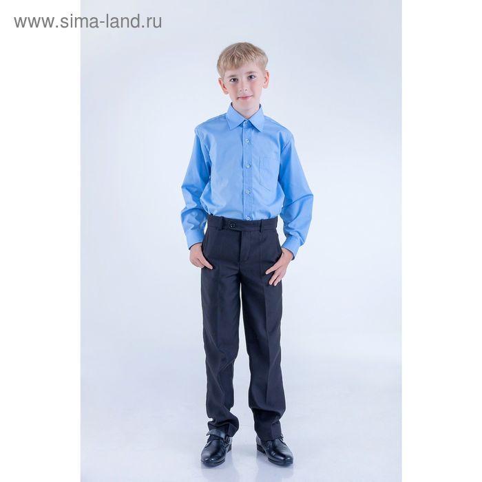 Сорочка для мальчика, рост 146-152 см (34), цвет светло-голубой 181Б