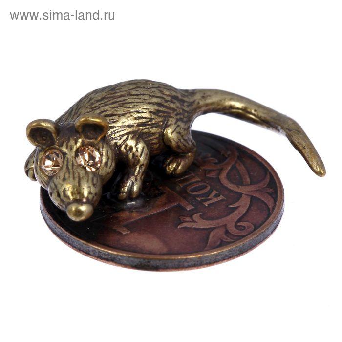 """Сувенир """"Кошельковая мышь-хранительница на монетке"""""""
