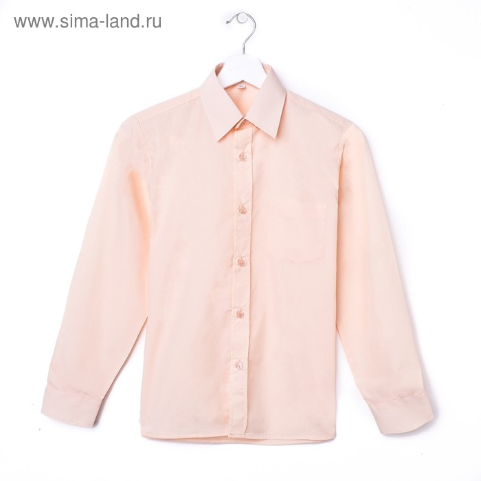Сорочка для мальчика, рост 122-128 см (30), цвет персик 181А