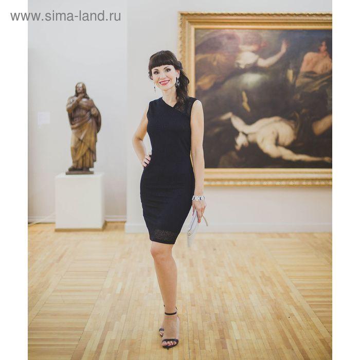 Платье женское, размер 50, рост 164 см, цвет чёрный (арт. 4501 С+)