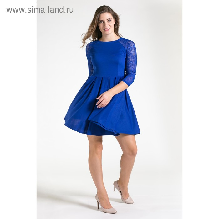 Платье женское, размер 50, рост 164 см, цвет синий (арт. 4500 С+)