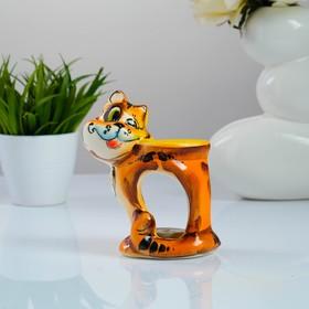 Подсвечник - аромалампа «Хитрый кот», гжель, рыжий
