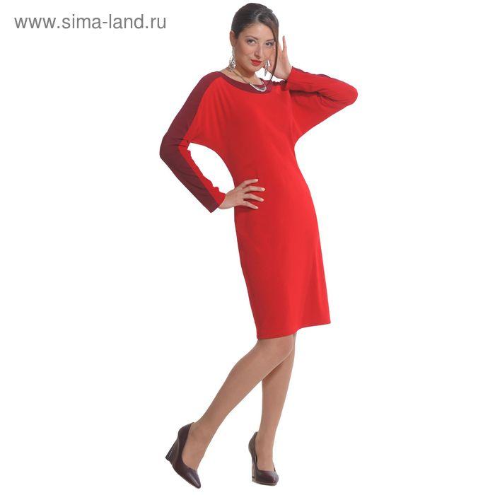 Платье женское 4230, размер 46, рост 164 см, цвет красный/бордо