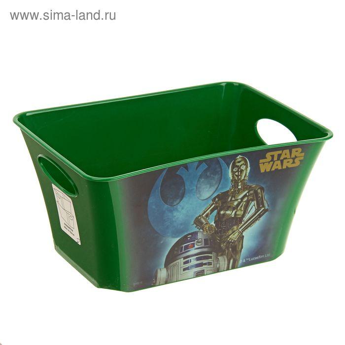 """Корзина для игрушек """"Звёздные войны"""" 1,5 л, цвет зелёный"""