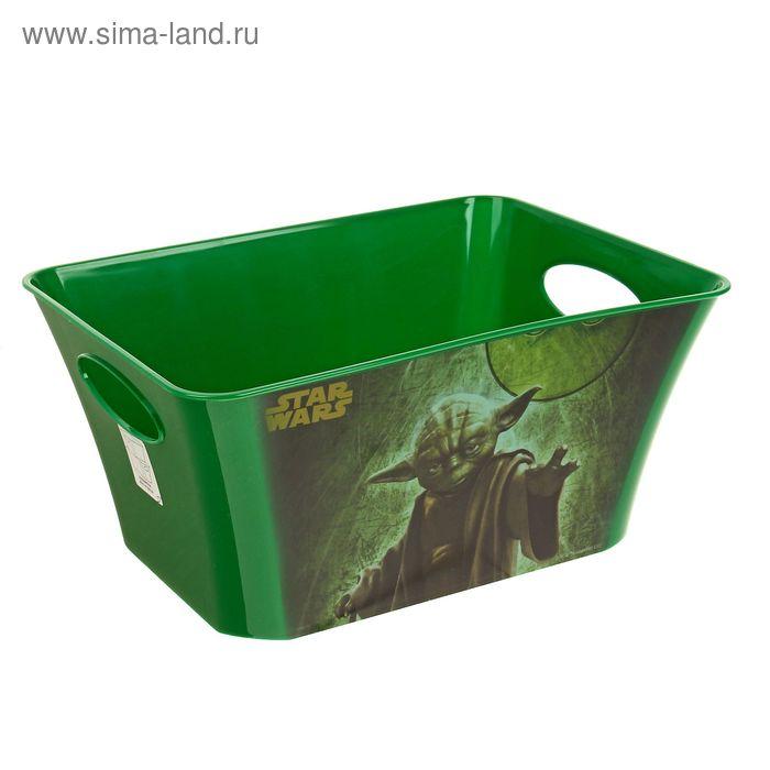 """Корзина для игрушек """"Звёздные войны"""", 5 л, цвет зелёный"""