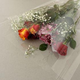 Пакет для цветов конус прозрачный