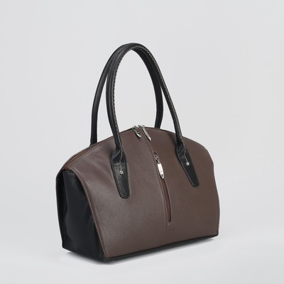 Сумка женская, 1 отдел на молнии, наружный карман, коричневая