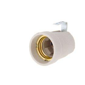 Патрон для ламп Uniel, Е27, керамика, без провода, металлическое крепление