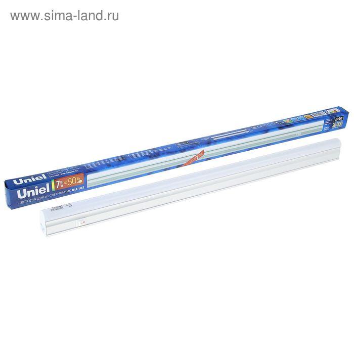 Светильник светодиодный Uniel, 7 Вт, 4200 К, 580 Лм, 503х27х33 мм, свет белый