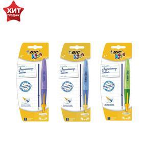 Ручка обучающая автоматическая BIC Kids Twist + стержень, синие чернила, узел 1.0мм, микс Ош