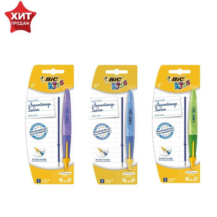 Ручка обучающая автоматическая BIC Kids Twist + стержень, синие чернила, узел 1.0мм, микс